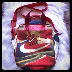 Red Nike Shoes Sportsware gym shoulder bag